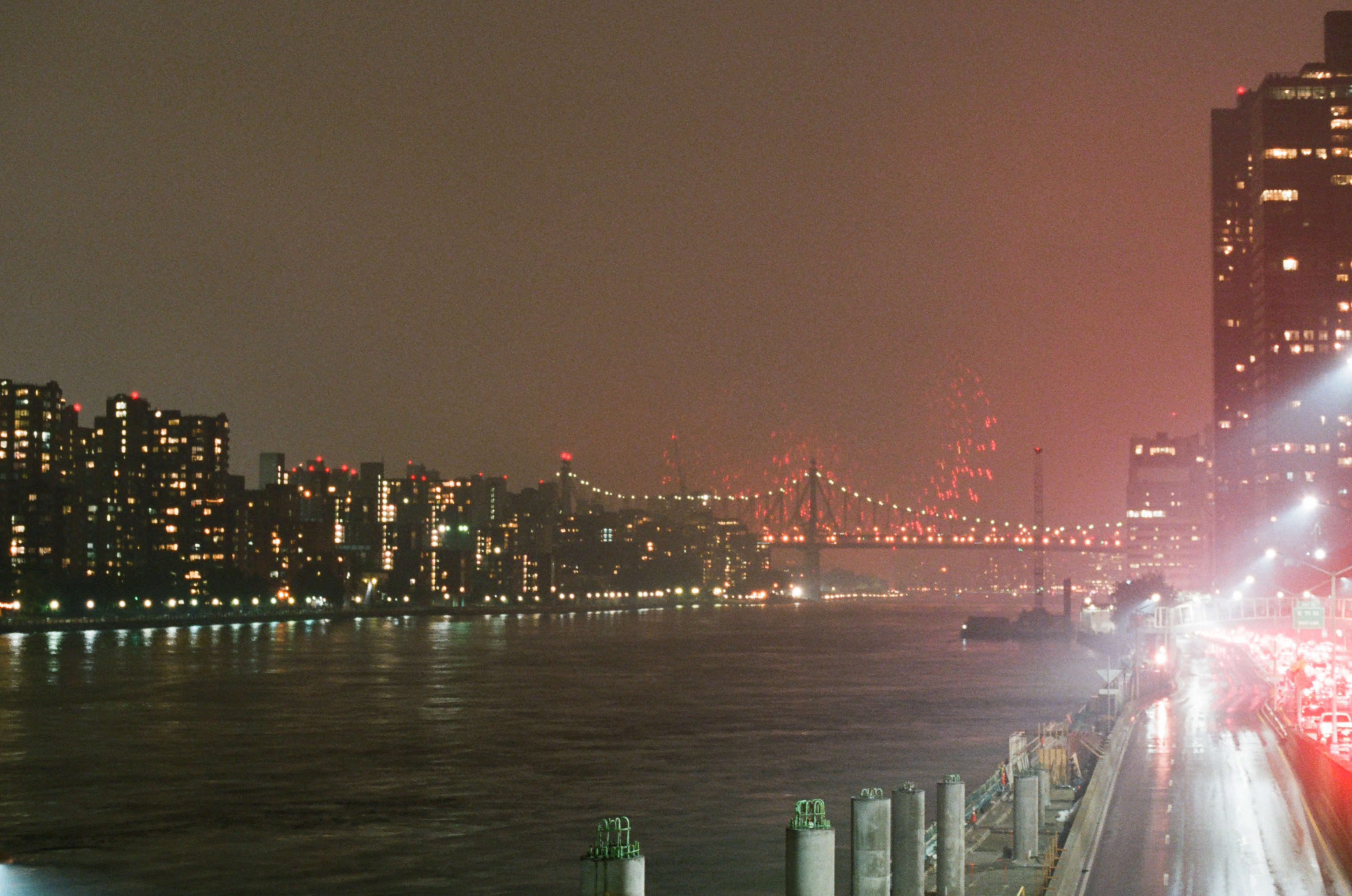 Fireworks on the East River.  - Upper East Side, NYC